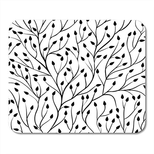 "Gaming Mauspads, Gaming Mouse Pad Beautiful Monochrome Black and White with Tree Branches Perfect and to The 11.8""x 9.8"" Decor Office Computer Accessories Nonslip Rubber Backing Mousepad Mouse Mat von HOTNING"