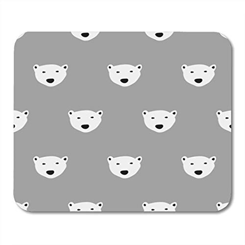 "Gaming Mauspads, Gaming Mouse Pad Pattern Polar Bear and Abstract Animal Cute Doodle Drawn Endless 11.8""x 9.8"" Decor Office Nonslip Rubber Backing Mousepad Mouse Mat von HOTNING"