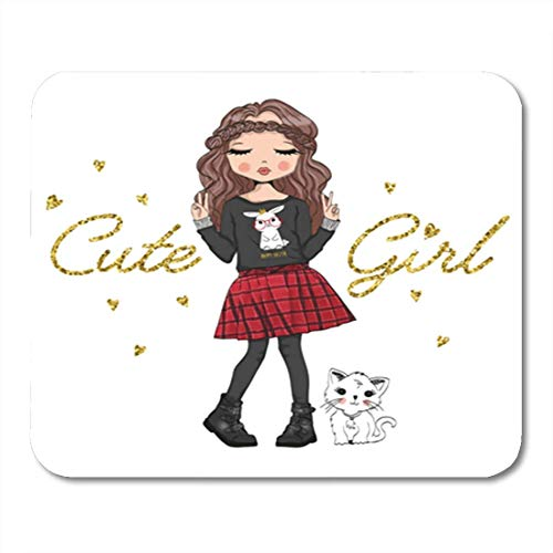 "Gaming Mauspads, Gaming Mouse Pad Princess Cute Girl Romantic Woman Flower Modern Baby Beautiful 11.8""x 9.8"" Decor Office Nonslip Rubber Backing Mousepad Mouse Mat von HOTNING"