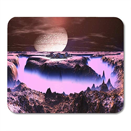"Gaming Mauspads, Gaming Mouse Pad Purple Haze Futuristic Space Station on Alien World Blue Armageddon 11.8""x 9.8"" Decor Office Nonslip Rubber Backing Mousepad Mouse Mat von HOTNING"