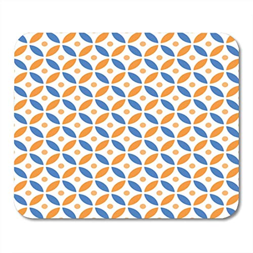 "Gaming Mauspads, Gaming Mouse Pad Red Intersecting Geometric Vintage Orange and Blue Circle Pattern 11.8""x 9.8"" Decor Office Nonslip Rubber Backing Mousepad Mouse Mat von HOTNING"