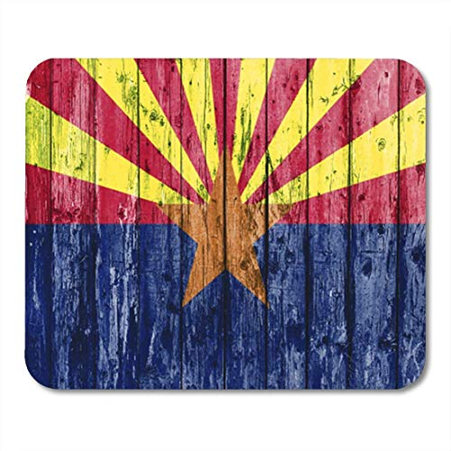 "HOTNING Gaming Mauspads, Gaming Mouse Pad Abstract Flag of Arizona on Wooden Arizonian Border Celebration Close Country Day 11.8""x 9.8"" Decor Office Nonslip Rubber Backing Mousepad Mouse Mat von HOTNING"