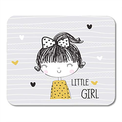 "HOTNING Gaming Mauspads, Gaming Mouse Pad Adorable Cute Girl Baby Beautiful Charming Cheerful Childish Dame 11.8""x 9.8"" Decor Office Nonslip Rubber Backing Mousepad Mouse Mat von HOTNING"