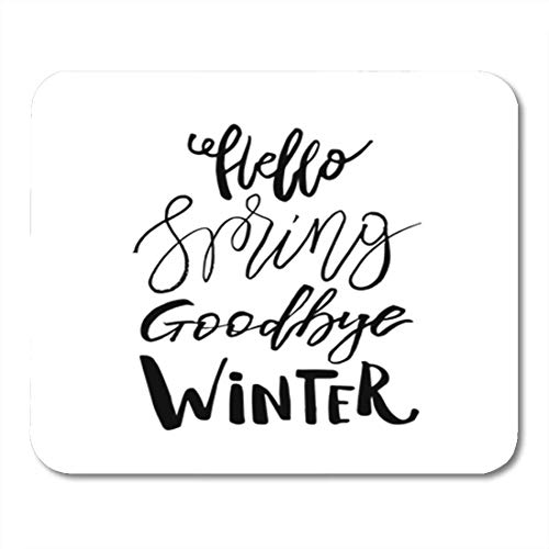 "HOTNING Gaming Mauspads, Gaming Mouse Pad April Hello Spring Goodbye Winter Inspiration Quote Lettering Brush Clearance 11.8""x 9.8"" Decor Office Nonslip Rubber Backing Mousepad Mouse Mat von HOTNING"
