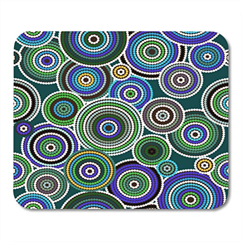 "HOTNING Gaming Mauspads, Gaming Mouse Pad Australian Aboriginal Art Vector Seamless Background Australia Pattern Indigenous Aborigine 11.8""x 9.8"" Decor Office Nonslip Rubber Backing Mousepad Mouse Mat von HOTNING"