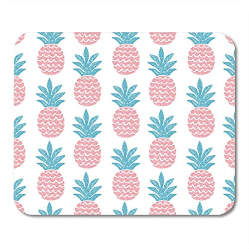 "HOTNING Gaming Mauspads, Gaming Mouse Pad Background Fun Pineapple Seamless Pattern Vector Illustration Pink Tropical Abstract 11.8""x 9.8"" Decor Office Nonslip Rubber Backing Mousepad Mouse Mat von HOTNING"