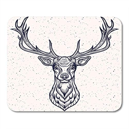 "HOTNING Gaming Mauspads, Gaming Mouse Pad Buck of Whitetail Deer Head Antler Animal White Tail Taxidermy 11.8""x 9.8"" Decor Office Nonslip Rubber Backing Mousepad Mouse Mat von HOTNING"