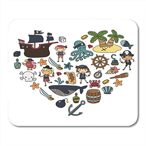 "HOTNING Gaming Mauspads, Gaming Mouse Pad Children Playing Pirates Boys and Girls Kindergarten School Preschool Halloween 11.8""x 9.8"" Decor Office Nonslip Rubber Backing Mousepad Mouse Mat von HOTNING"