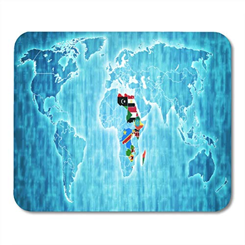 "HOTNING Gaming Mauspads, Gaming Mouse Pad Common Market for Eastern and Southern Africa Member Countries Flags 11.8""x 9.8"" Decor Office Nonslip Rubber Backing Mousepad Mouse Mat von HOTNING"
