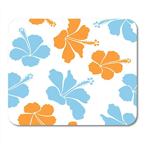 "HOTNING Gaming Mauspads, Gaming Mouse Pad Creative Universal Floral Pattern in Blue and Orange Colors Tropical 11.8""x 9.8"" Decor Office Nonslip Rubber Backing Mousepad Mouse Mat von HOTNING"
