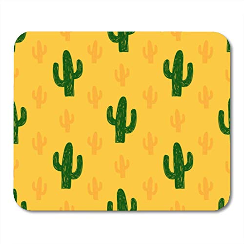 "HOTNING Gaming Mauspads, Gaming Mouse Pad Desert Vector Seamless Pattern with Succulent Cactus Background Tropical Cute 11.8""x 9.8"" Decor Office Nonslip Rubber Backing Mousepad Mouse Mat von HOTNING"