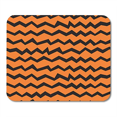 "HOTNING Gaming Mauspads, Gaming Mouse Pad Halloween Chevron Pattern Black and Orange Zigzag Lines Polygraphy 11.8""x 9.8"" Decor Office Nonslip Rubber Backing Mousepad Mouse Mat von HOTNING"