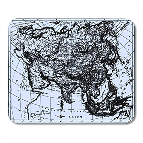 "HOTNING Gaming Mauspads, Gaming Mouse Pad Historical Map of Asia from The Bilderatlas by F Brockhaus 11.8""x 9.8"" Decor Office Nonslip Rubber Backing Mousepad Mouse Mat von HOTNING"