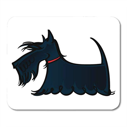 "HOTNING Gaming Mauspads, Gaming Mouse Pad Red Dog Scottie Scotland Breed Hair Long Animal Beard Black 11.8""x 9.8"" Decor Office Nonslip Rubber Backing Mousepad Mouse Mat von HOTNING"