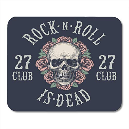 "HOTNING Gaming Mauspads, Gaming Mouse Pad Skull Rock N Roll Symbol Band Graphic Hair Concert Microphone 11.8""x 9.8"" Decor Office Nonslip Rubber Backing Mousepad Mouse Mat von HOTNING"