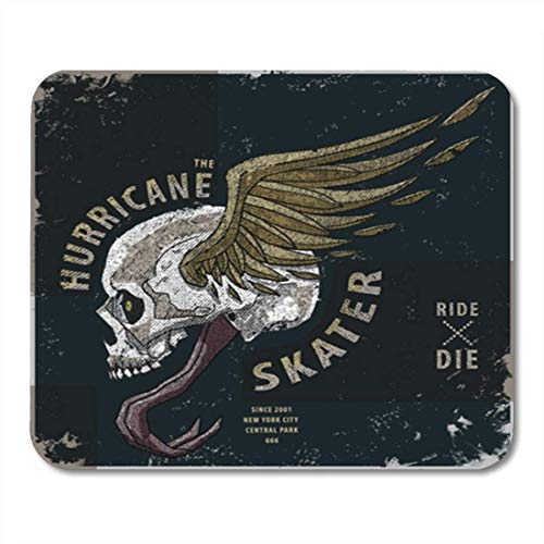 "HOTNING Gaming Mauspads, Gaming Mouse Pad Vintage Hurricane Skater Graphic Skull Motorcycle Rock Punk Creative Metal 11.8""x 9.8"" Decor Office Nonslip Rubber Backing Mousepad Mouse Mat von HOTNING"
