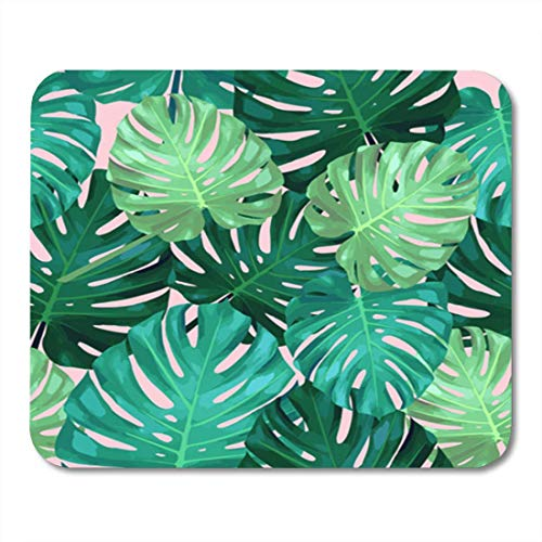 "HOTNING Gaming Mauspads, Gaming Mouse Pad Watercolor Pattern of Leaves Monstera Tropical Palm Tree Green Leaf 11.8""x 9.8"" Decor Office Nonslip Rubber Backing Mousepad Mouse Mat von HOTNING"