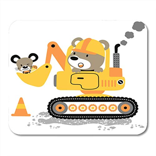 "HOTNING Gaming Mauspads, Gaming Mouse Pad Yellow Animal Bear Driving Heavy Tools Little Mouse Cartoon 11.8""x 9.8"" Decor Office Nonslip Rubber Backing Mousepad Mouse Mat von HOTNING"