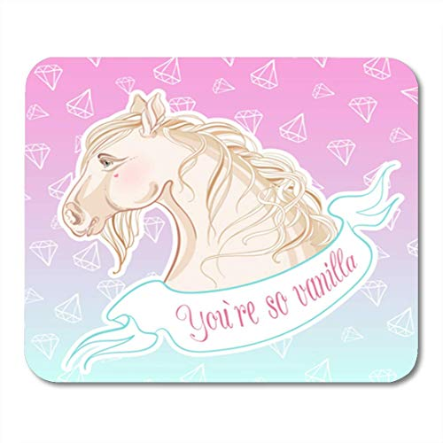 "HOTNING Gaming Mauspads, Gaming Mouse Pad You are So Vanilla Realistic in Pastel Colors Horse 11.8""x 9.8"" Decor Office Nonslip Rubber Backing Mousepad Mouse Mat von HOTNING"