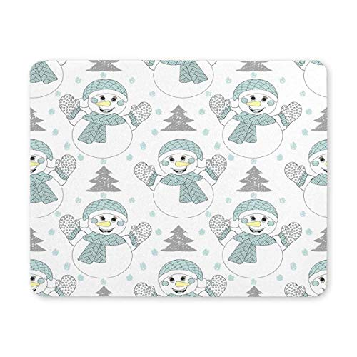 BGLKCS Gaming Mouse Pad Durable Office Accessory Happy Snowman Christmas New Year Rubber Mauspads Mat von HYYCLS