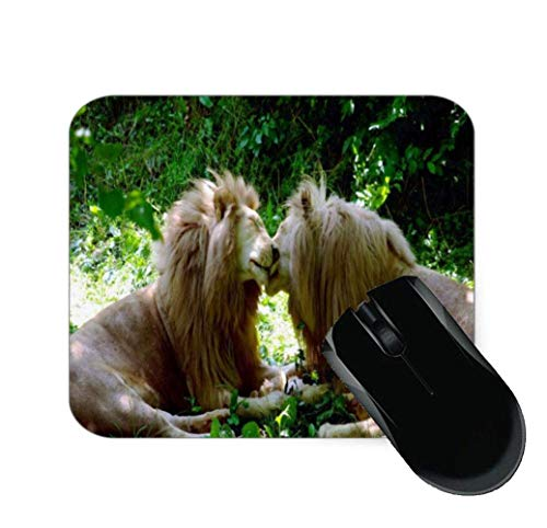 SHAQ® Two Lion Couple Kissing Mouse Pad Mauspads 8.6 X 7.1 in von HYYCLS
