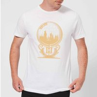Harry Potter Hogwarts Snowglobe Men's T-Shirt - White - XL - Weiß von Harry Potter