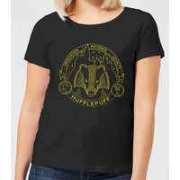 Harry Potter Hufflepuff Badger Badge Women's T-Shirt - Black - XXL - Schwarz von Harry Potter