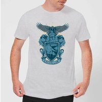 Harry Potter Ravenclaw Drawn Crest Men's T-Shirt - Grey - XXL - Grau von Harry Potter