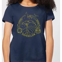Harry Potter Ravenclaw Raven Badge Women's T-Shirt - Navy - M - Marineblau von Harry Potter
