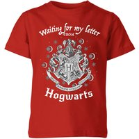 Harry Potter Waiting For My Letter From Hogwarts Kinder T-Shirt - Rot - 11-12 Jahre - Rot von Harry Potter