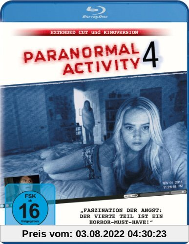 Paranormal Activity 4 (Extended Cut) [Blu-ray] von Henry Joost
