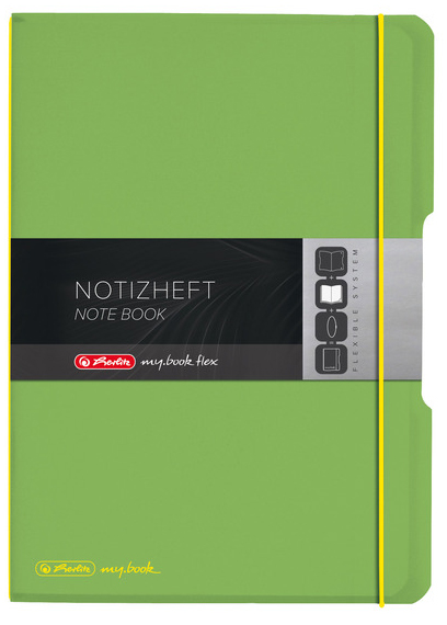 herlitz Notizheft my.book flex, A4, PP-Cover, hellgrün von Herlitz