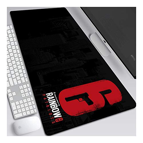 ITBT Mauspad Rainbow 6 800x300mm Anime Mouse Pad,Extended XXL Large Professional Gaming Mausmatte mit 3mm Dicker Gummibasis, für Computer PC, I. von ITBT