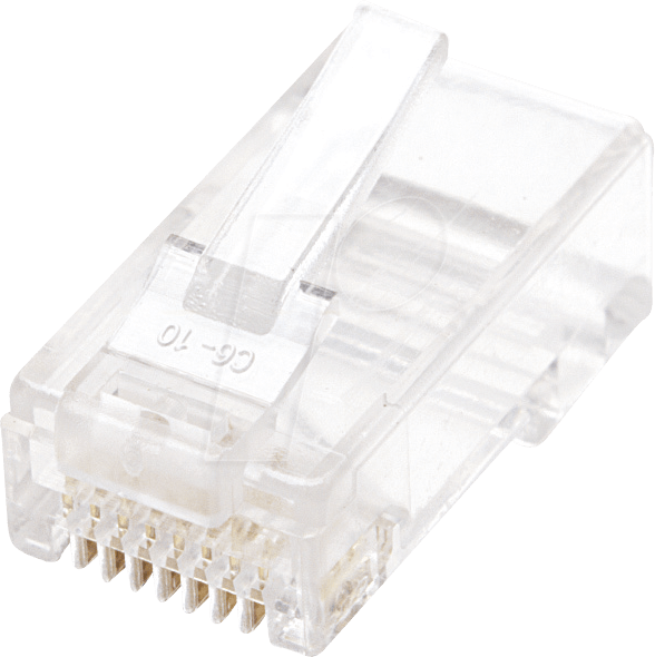INT 790055 - CAT5e Modularstecker, UTP, 2-Punkt, 100 Stk von Intellinet