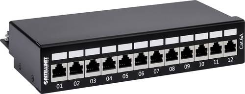 Intellinet 720915 12 Port Patch-Panel CAT 6a von Intellinet