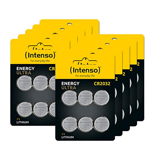 60x Intenso Energy Ultra Lithium Knopfzelle CR2032 10 x 6er Blister, 7502436MP von Intenso