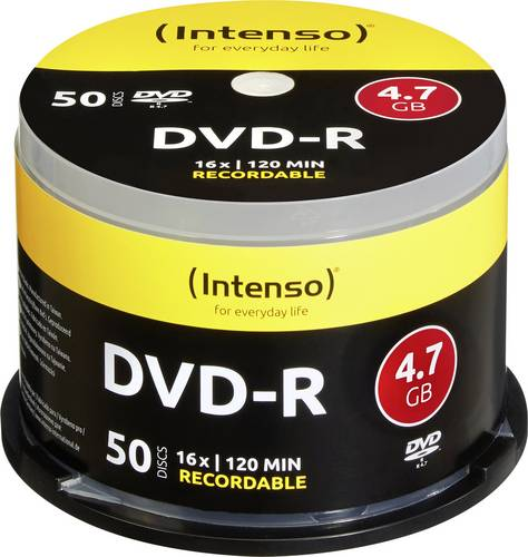 Intenso 4101155 DVD-R Rohling 4.7GB 50 St. Spindel von Intenso