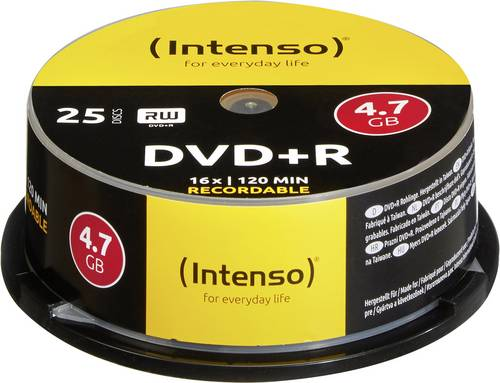 Intenso 4111154 DVD+R Rohling 4.7GB 25 St. Spindel von Intenso