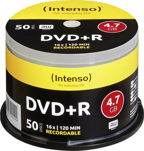Intenso 4111155 DVD+R Rohling 4.7GB 50 St. Spindel von Intenso