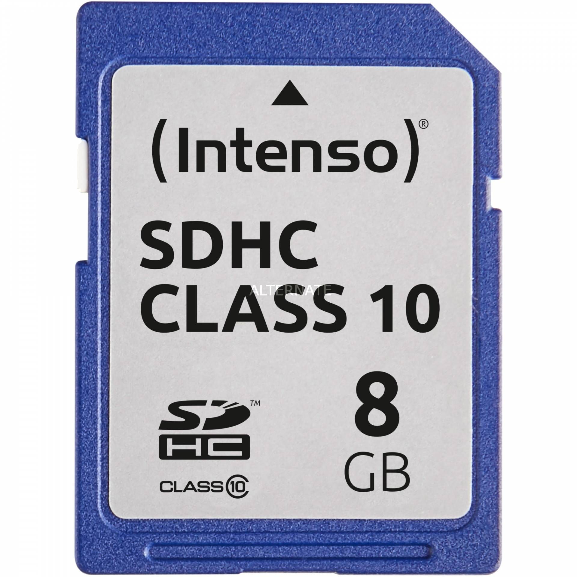 Secure Digital SDHC Card 8 GB, Speicherkarte von Intenso
