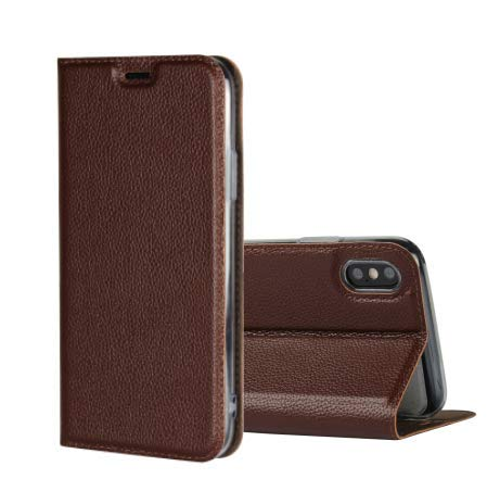 Lizhiwen iPhone, iPhone X-*+ Brown von Jaorty