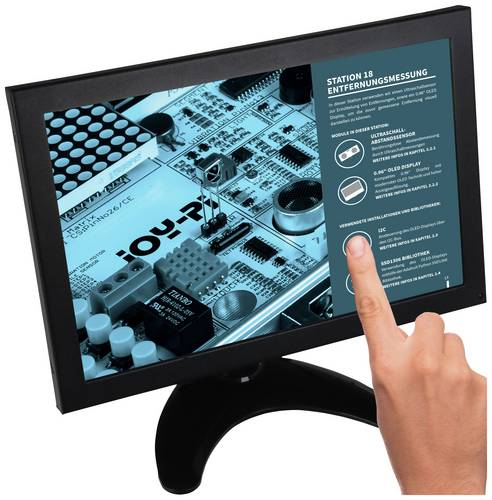 Joy-it RB-LCD10-2 Touchscreen-Monitor EEK: A+ (A++ - E) 25.4cm (10 Zoll) 1280 x 800 Pixel HDMI®, US von JOY-IT