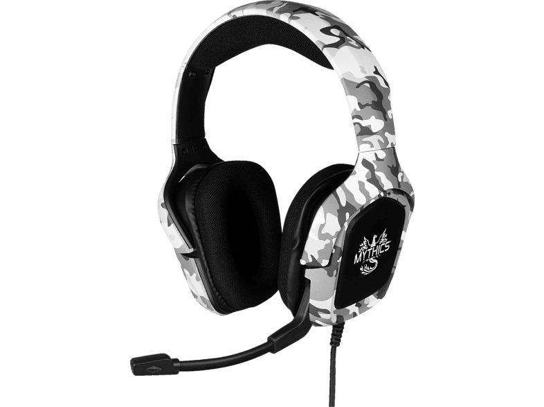 KONIX Universal Ares Camo, Over-ear Gaming Headset Weiß/Grau Camouflage von KONIX