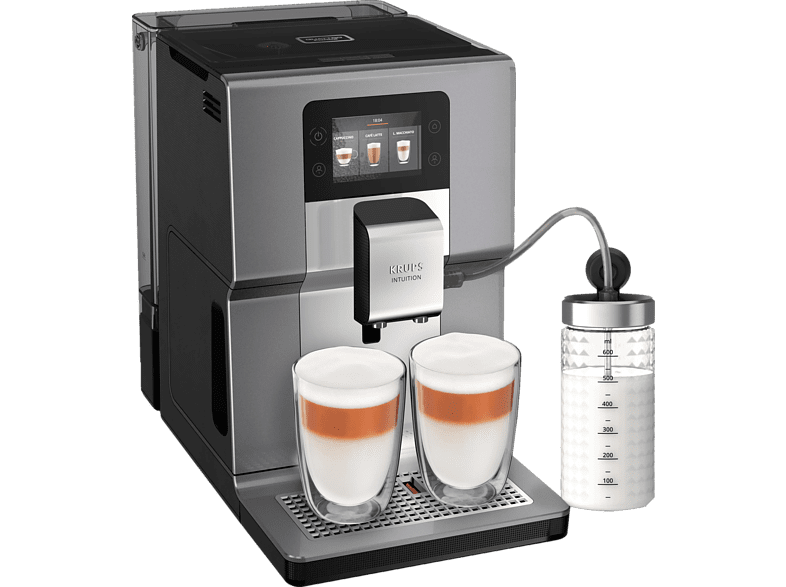KRUPS EA 875 E Intuition Preference+ Kaffeevollautomat in Silber von KRUPS