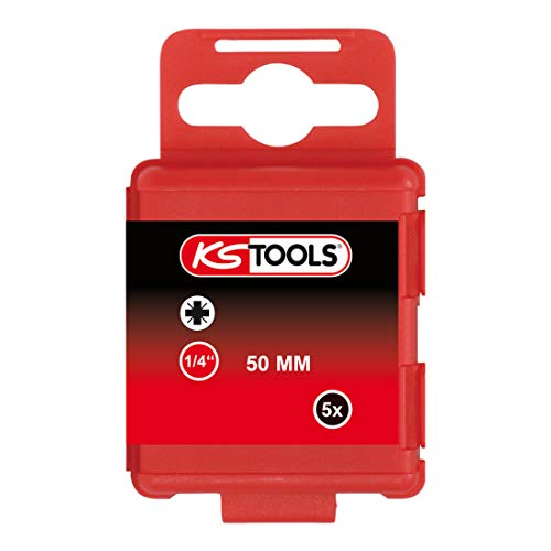 "KS Tools 911.3348 1/4"" CLASSIC Bit PZ, 50mm, PZ0, 5er Pack von KS Tools"