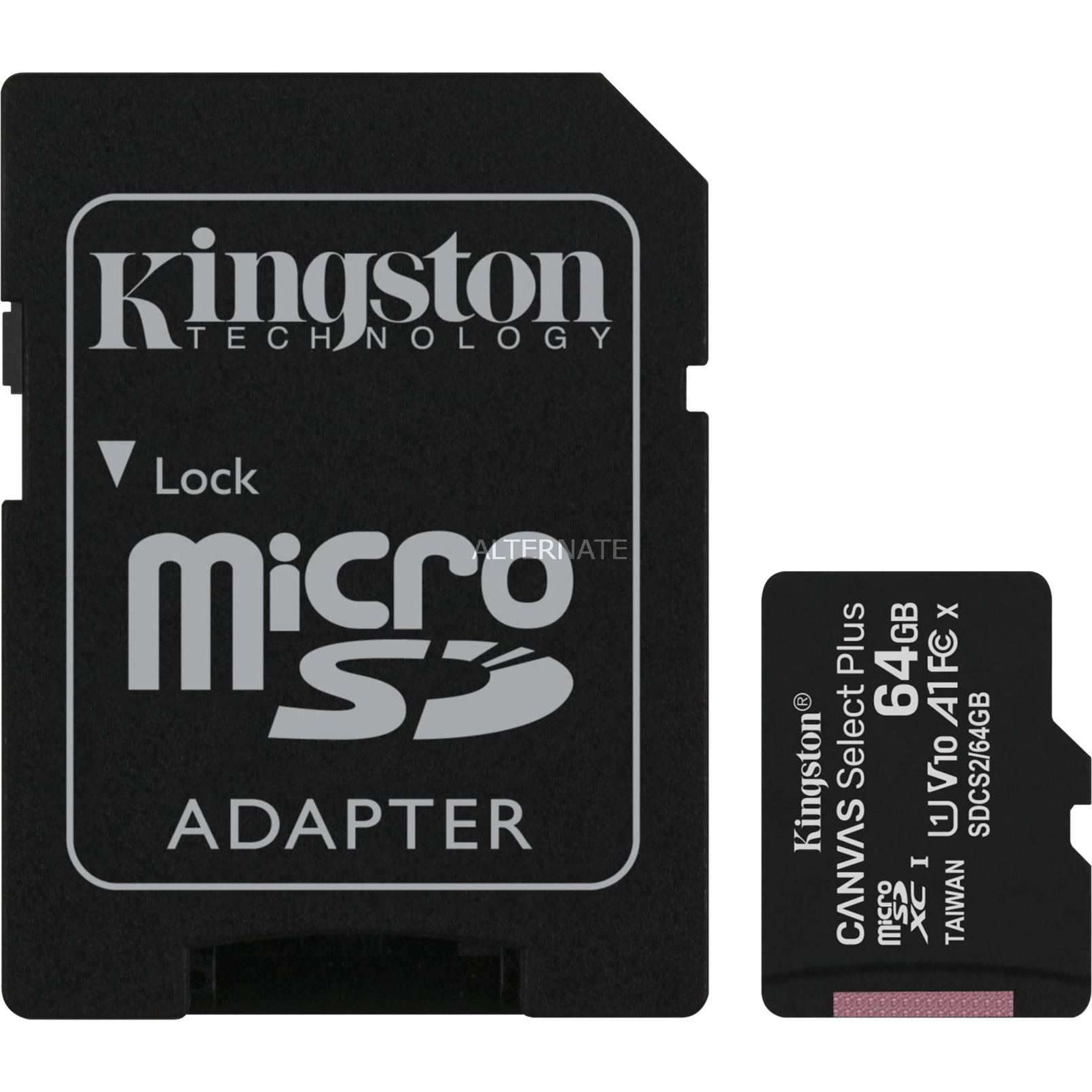 Canvas Select Plus 64 GB microSDXC, Speicherkarte von Kingston