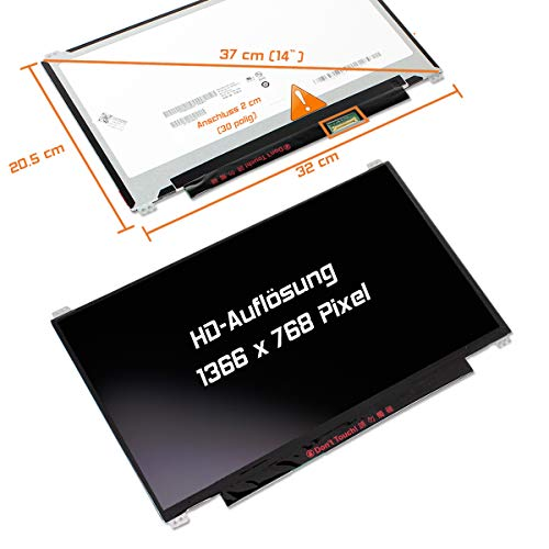 "Laptiptop 14,0"" LED Display Screen Glossy Ersatz für Lenovo ThinkPad E470 20H1002K 1366x768 Bildschirm Panel von Laptiptop"