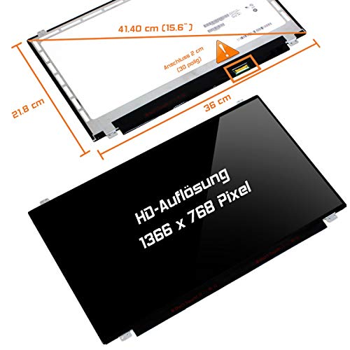 "Laptiptop 15,6"" LED Display Screen Glossy Ersatz für HP 15-Ay117cl 1366x768 HD 30pin Bildschirm Panel von Laptiptop"