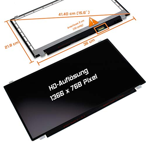 "Laptiptop 15,6"" LED Display Screen matt Ersatz für HP Y5K73EA 1366x768 HD 30pin Bildschirm Panel von Laptiptop"