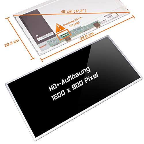"Laptiptop 17,3"" LED Display Screen Glossy Ersatz für HP L1U00EA 1600x900 HD+ 40pin Bildschirm Panel von Laptiptop"